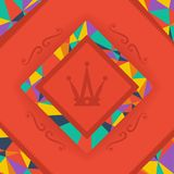 Background bright and crown symbol Royalty Free Stock Images