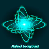 Background with bright fire glowing geometric shapes Royalty Free Stock Image