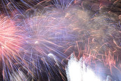 Background of bright fireworks Royalty Free Stock Photography