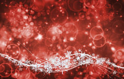 Background and bright flashes. And snowflakes particles Royalty Free Stock Photography