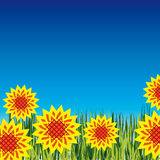 Background with bright flowers Stock Photos
