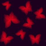 Background with bright geometric butterflies Stock Images
