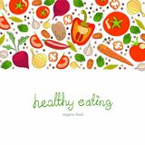 Background with bright healthy vegetables Royalty Free Stock Image