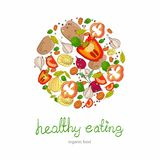 Background with bright healthy vegetables Royalty Free Stock Images