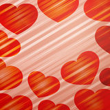 Background with bright hearts Stock Images