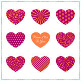 Background with bright hearts Royalty Free Stock Images