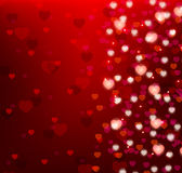 Background with bright hearts Royalty Free Stock Photos