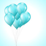 Background with balloons vector illustration