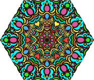 Background with bright  mandala pattern with jewels Stock Photography