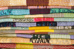 Background of bright rugs Stock Photography
