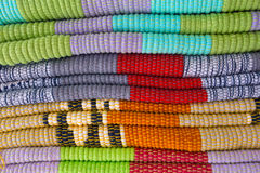 Background of bright rugs Royalty Free Stock Images