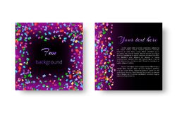 Square background pattern with confetti royalty free illustration