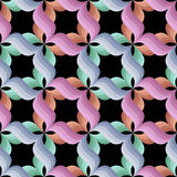 Background with bright stylized petals on black Stock Photos