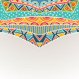 Background With Bright Symmetric Tribal Ornament Stock Image