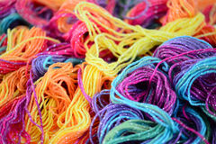 Background of bright yarn Royalty Free Stock Image