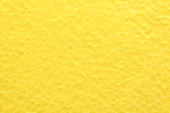 The background from the bright yellow styrofoam Stock Photography