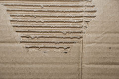 Background of broken corrugated cardboard Stock Photography