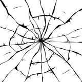 Background of broken glass, vector. Black and white background of broken glass, vector Royalty Free Stock Image