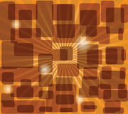 Background in brown. Abstract background from rounded squares Stock Image