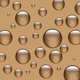 Background brown balls. Spheres or balls, all brown, thinking at the same thing, why are we brown Royalty Free Stock Photography