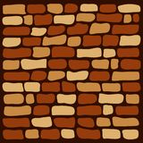Background brown brick wall, vector. Illustration vector illustration