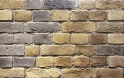 Background of brown building bricks. A wall of bricks royalty free stock photography