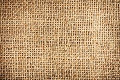 Background of a brown burlap bag Stock Photo