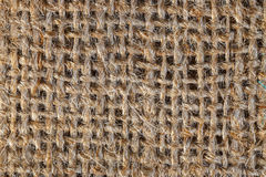 Background of a brown burlap bag Stock Images