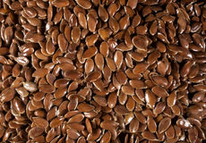 Background of brown flax seeds linseed. Healthy food diet. Background of brown flax seeds linseed Royalty Free Stock Photos