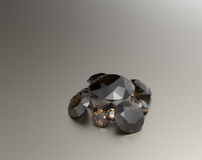 Background with brown gemstones. 3D illustration Stock Images