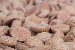 Background of brown ginger nuts, typical Dutch sweets at Sinterklaas event Stock Photography