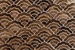 Background of brown gold japanese style wave pattern teture