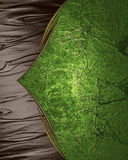 Background brown with green texture. Element for design. Template for design. copy space for ad brochure or announcement invitatio. N, abstract background Royalty Free Stock Photos