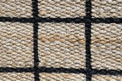 Closed Up of Paid Pattern of Basket Weave Texture. Background of Brown Handicraft Weave Texture Wicker Surface with Paid Pattern for Furniture Material Royalty Free Stock Image