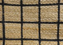 Detail of Paid Pattern of Basket Weave Texture. Background of Brown Handicraft Weave Texture Wicker Surface with Paid Pattern for Furniture Material Royalty Free Stock Photography