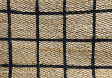 Detail of Paid Pattern of Basket Weave Texture. Background of Brown Handicraft Weave Texture Wicker Surface with Paid Pattern for Furniture Material Royalty Free Stock Images