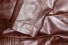 Background of brown leather Royalty Free Stock Photo