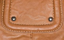 Background of brown leather Royalty Free Stock Photography