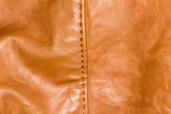 Background of brown leather Royalty Free Stock Images