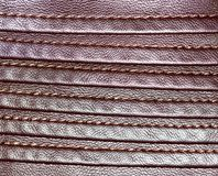 Background of brown leather Stock Images