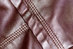 Background of brown leather. Photo of abstract background Royalty Free Stock Image