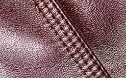 Background of brown leather Stock Image