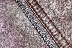 Background of brown leather Stock Photography