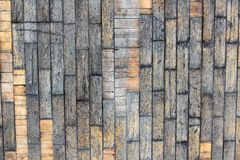 Background of brown old natural wood planks Dark aged empty rural room with tree floor pattern texture Closeup gold view surface o. F retro pine red logs inside royalty free stock images