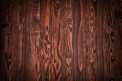 Wood texture, natural dark brown vintage wooden background royalty free stock photo