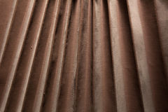 Background of brown old rough fabric of the old wooden camera Stock Photo