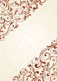 Background with brown pattern. Decorative template for text, illustration Stock Image