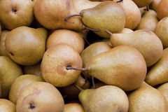 Background of brown pears Stock Photo