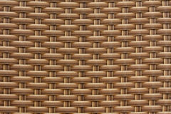 Background of brown plastic weave pattern Royalty Free Stock Image