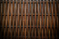Background of the brown plastic weave Royalty Free Stock Photography